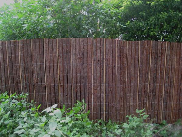 bark fences bark fence with bamboo stick bark mat bark screen fir